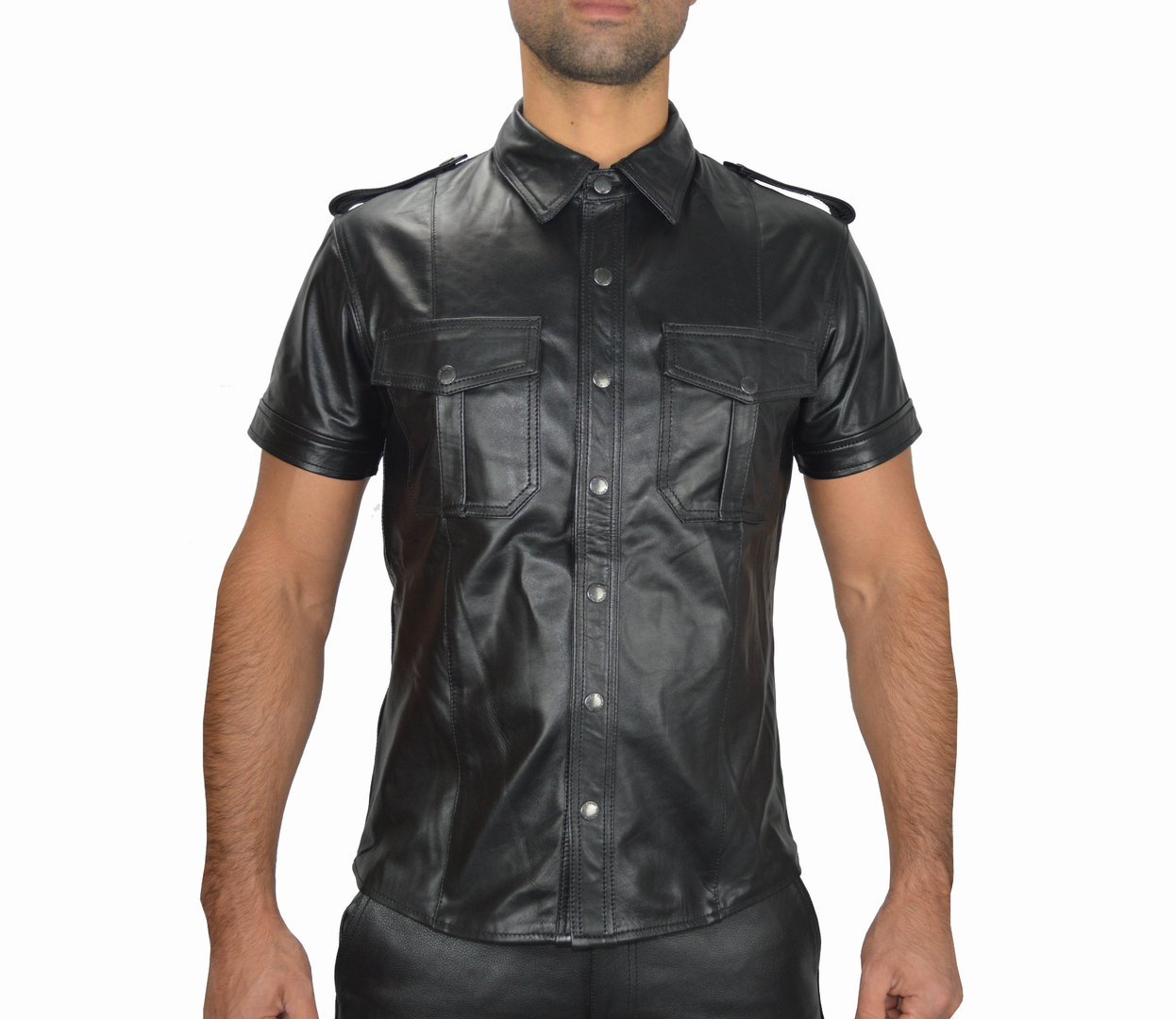 Leder Hemd,Lederhemd,Leather Shirt