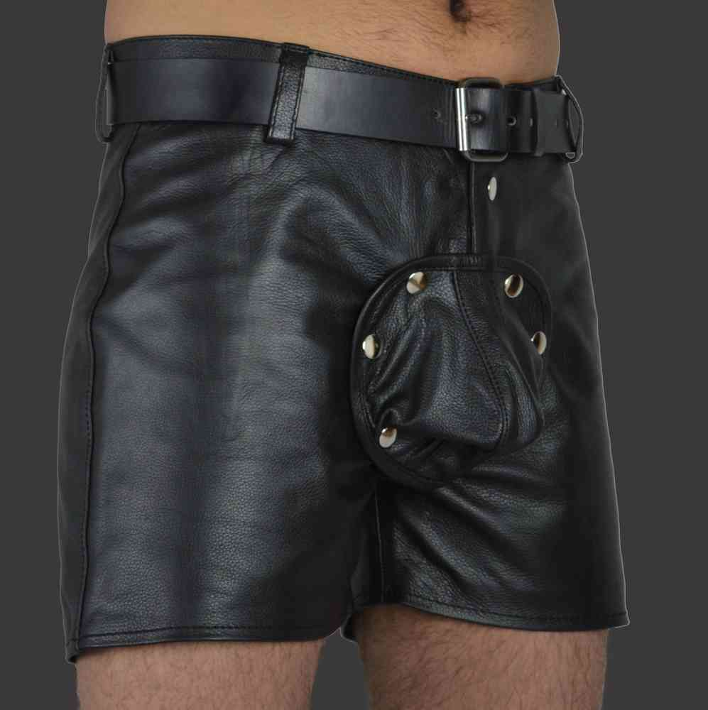 cock pouch Leather