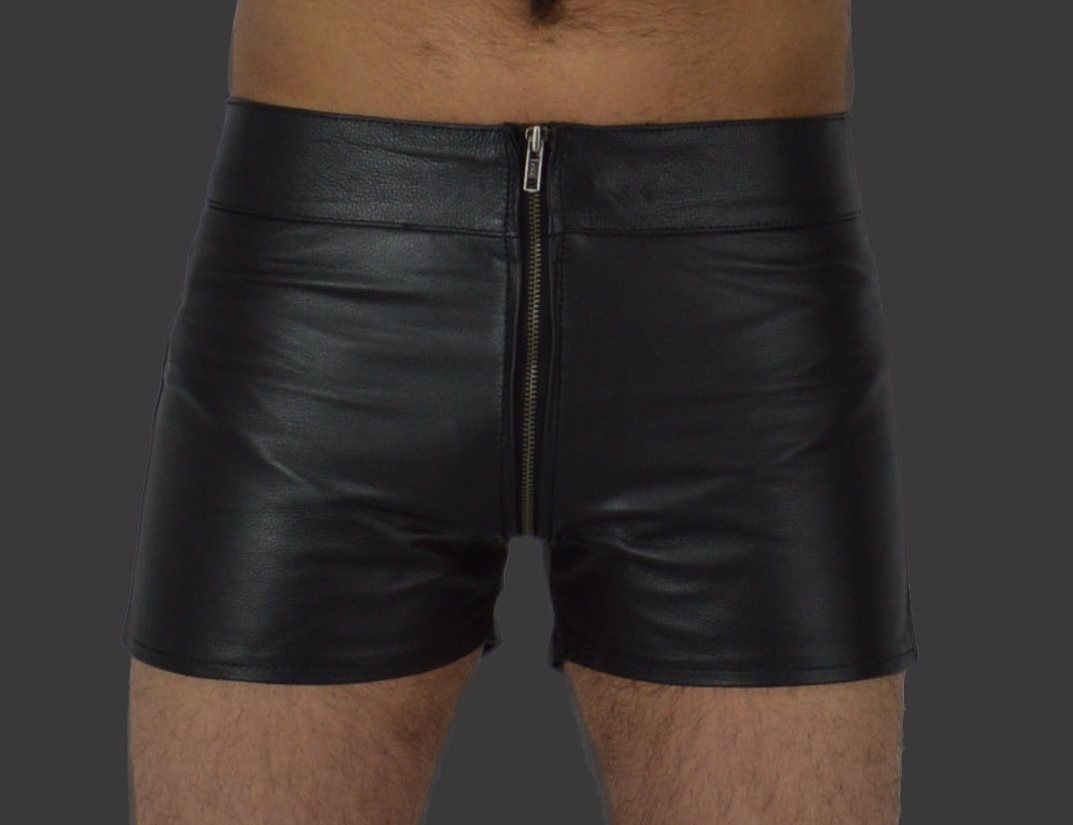 Ledershorts Tow way Zipper