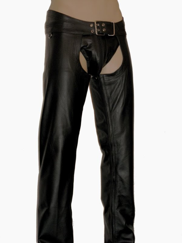 Leather Chaps Black without knee join