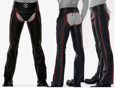 leder chaps rot piping