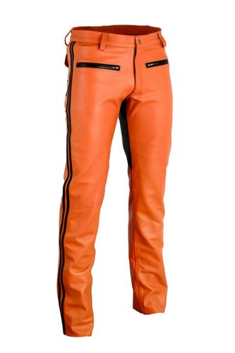 leather Orange Pant
