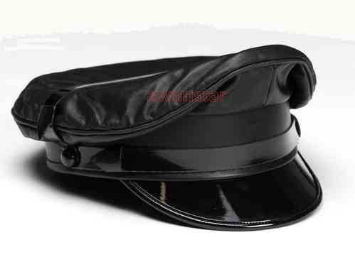 Leather Muir cap