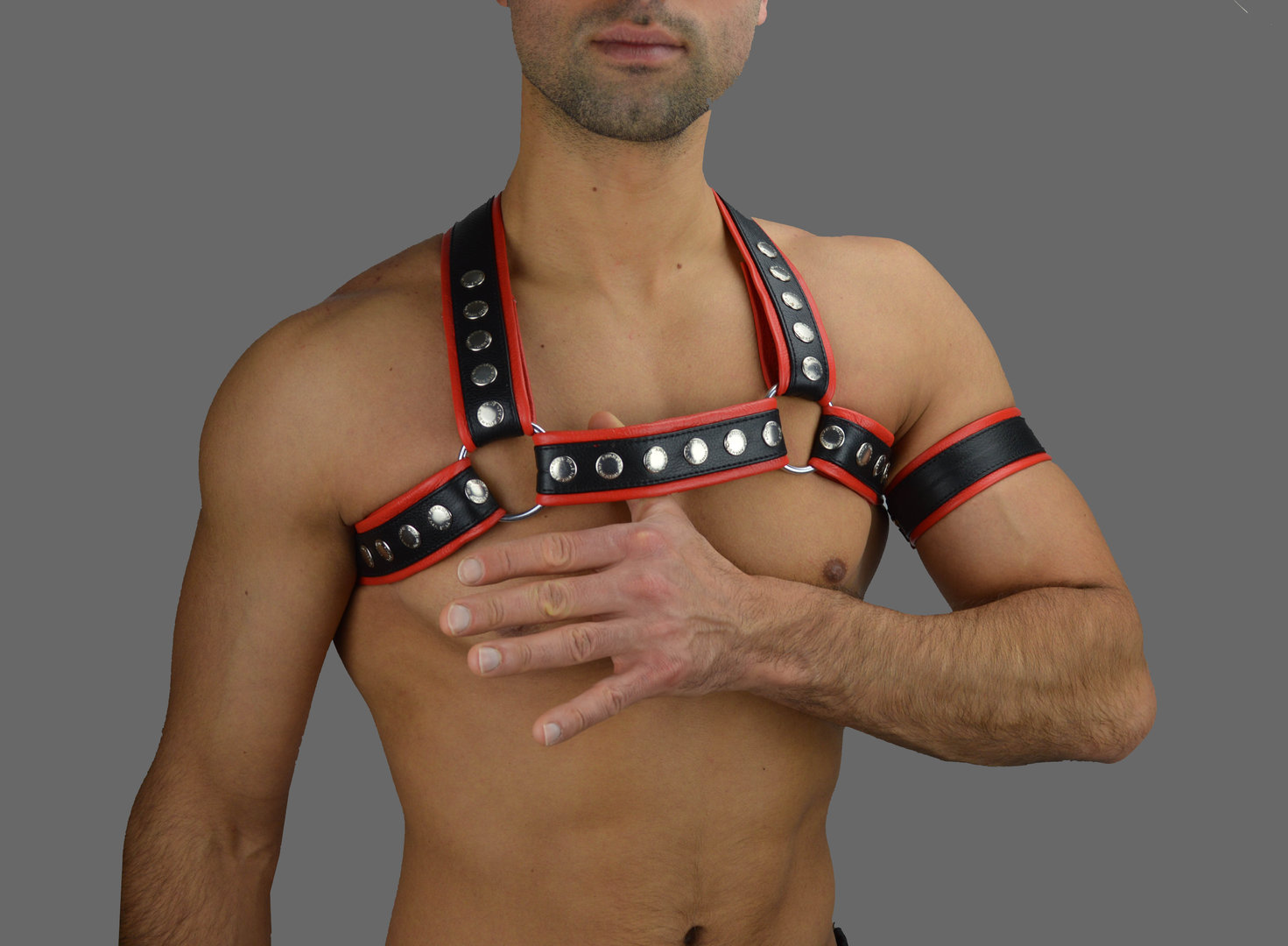 AW-6735 chest Harness Rote streife