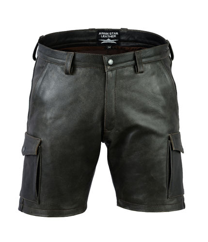 Old Look Leather Shorts