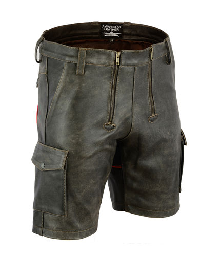 Antique Soft Leather Carpenter Shorts
