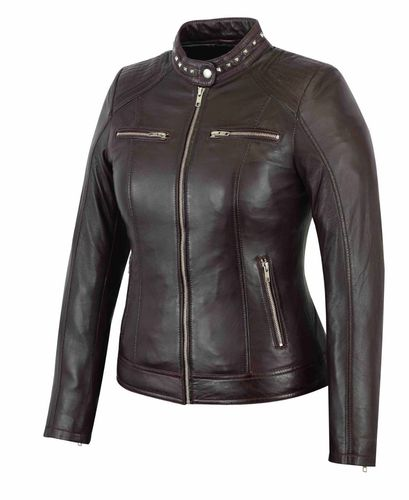 Made of soft Sheep Women leather jacket Bordeauxrot