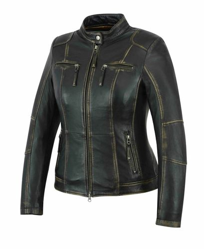 Damen Lederjacke Used-optik