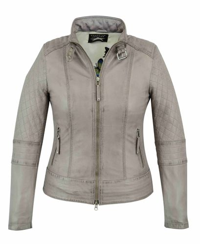Women leather jacket Beige