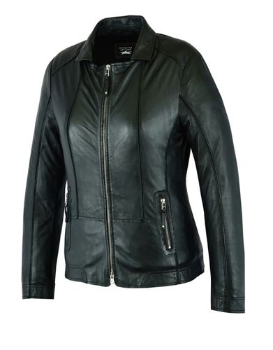 Made of soft Sheep Women leather jacket Black