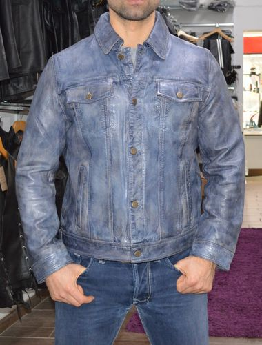 Jeans Jacket Men Best Quality leather jacket ,Made of soft  leather